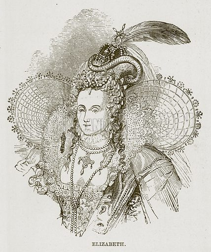 Elizabeth. Illustration for The Life and Times of The Marquis of Salisbury by S H Jeyes (Virtue, c 1895).