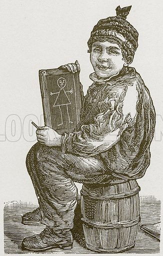 A young artist. Nineteenth century comic picture reprinted in an edition of Cole's Funny Picture Book.