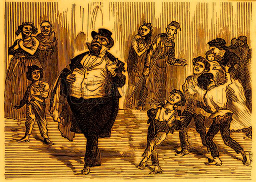 Self-importance.Nineteenth century comic picture reprinted in an edition of Cole's Funny Picture Book.