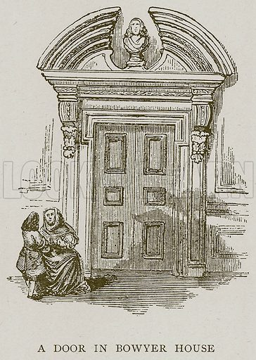 A Door in Bowyer House. Illustration for London South of the Thames by Sir Walter Besant (A & C Black, 1912).