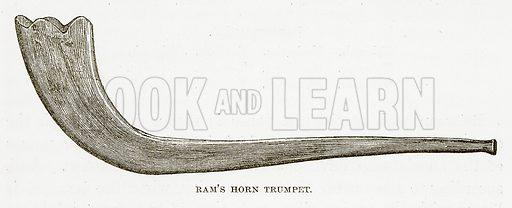 Ram's Horn Trumpet. Illustration for Bible Animals by JG Wood (Longmans, 1876).