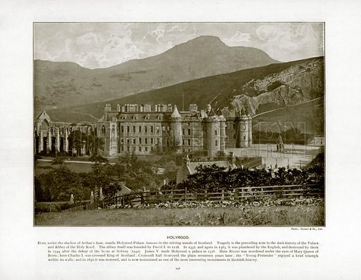 Holyrood. Photograph from The Queen