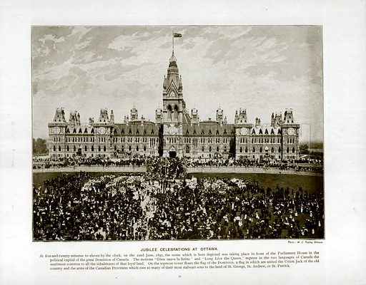 Jubilee Celebrations at Ottawa. Photograph from The Queen's Empire (Cassell, 1899).