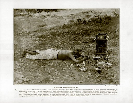 A Brahmin Performing Pujah. Photograph from The Queen's Empire (Cassell, 1899).