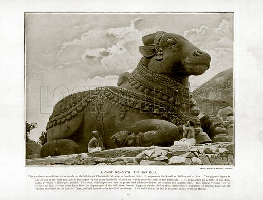 A Giant Monolith: The Siva Bull. Photograph from The Queen's Empire (Cassell, 1899).