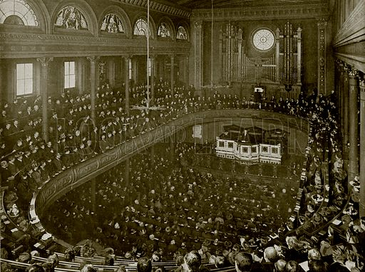 Dr Parker Preaching on Christmas Morning in the City Temple, London. Photograph from The Queen's Empire (Cassell, 1899).