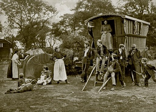 A Gipsy Encampment in Essex. Photograph from The Queen's Empire (Cassell, 1899).