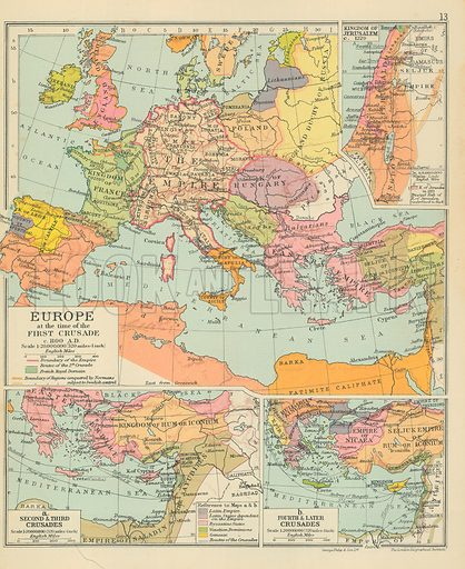 Map Of Europe 1100 Ad.Europe At The Time Of The First Crusade C 1100 A D Look And
