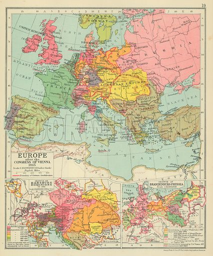 Europe After The Congress Of Vienna 1815 Look And Learn History