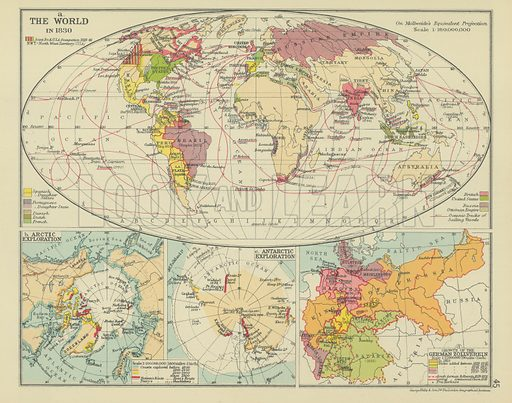 Map Of Zollverein Germany.The World In 1830 Look And Learn History Picture Library