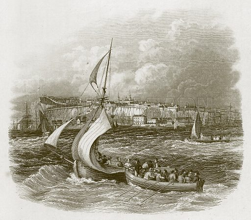 English Port. Illustration for Wonders of the World (D Omer Smith, c 1860).