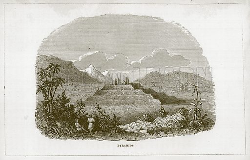 Pyramids. Illustration for Wonders of the World (D Omer Smith, c 1860).
