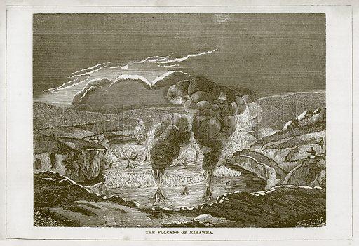 The Volcano of Kirawra. Illustration for Wonders of the World (D Omer Smith, c 1860).
