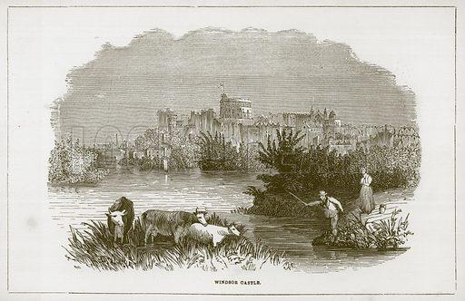 Windsor Castle. Illustration for Wonders of the World (D Omer Smith, c 1860).
