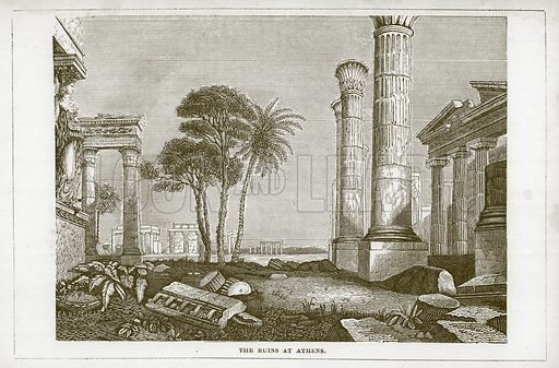 The Ruins at Athens. Illustration for Wonders of the World (D Omer Smith, c 1860).