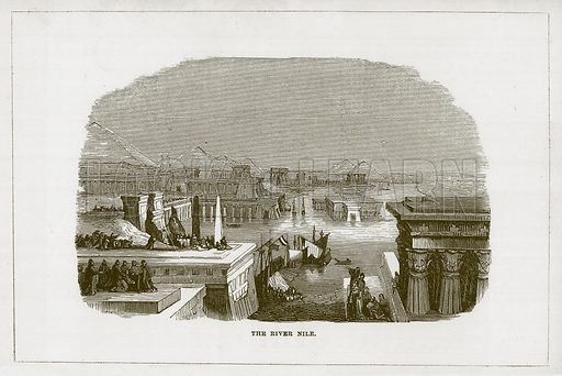 The River Nile. Illustration for Wonders of the World (D Omer Smith, c 1860).