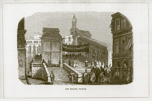 The Rialto, Venice. Illustration for Wonders of the World (D Omer Smith, c 1860).