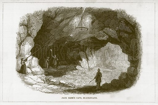 Jack Cade's Cave, Blackheath. Illustration for Wonders of the World (D Omer Smith, c 1860).