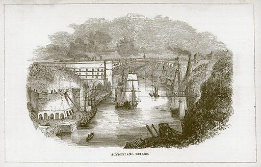 Sunderland Bridge. Illustration for Wonders of the World (D Omer Smith, c 1860).