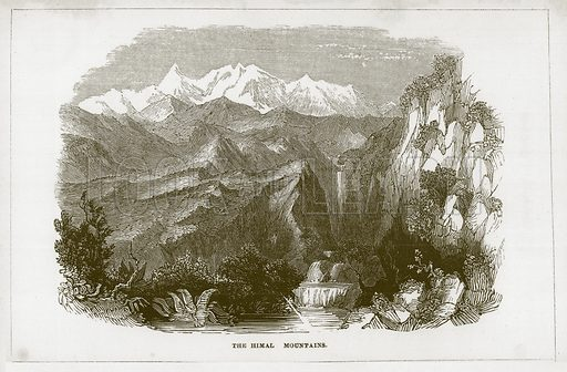 The Himal Mountains. Illustration for Wonders of the World (D Omer Smith, c 1860).
