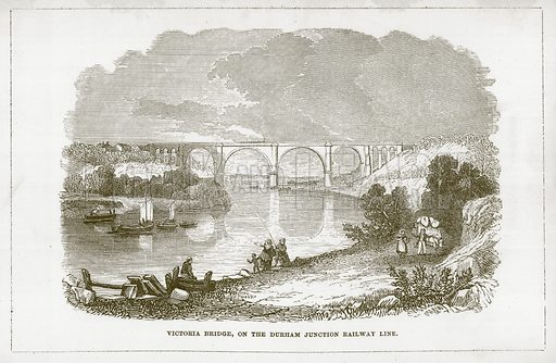Victoria Bridge, on the Durham Junction Railway Line. Illustration for Wonders of the World (D Omer Smith, c 1860).