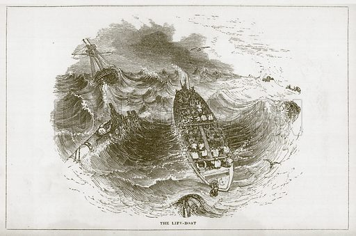 The Life-Boat. Illustration for Wonders of the World (D Omer Smith, c 1860).