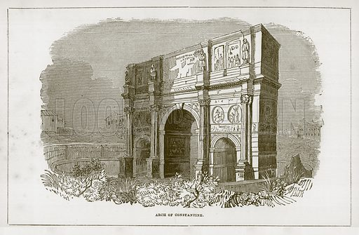 Arch of Constantine. Illustration for Wonders of the World (D Omer Smith, c 1860).