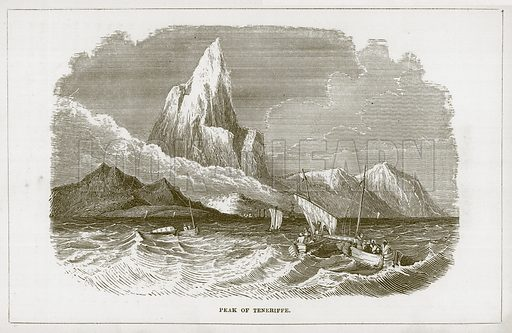 Peak of Teneriffe. Illustration for Wonders of the World (D Omer Smith, c 1860).
