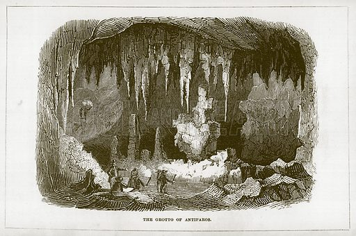 The Grotto of Antiparos. Illustration for Wonders of the World (D Omer Smith, c 1860).