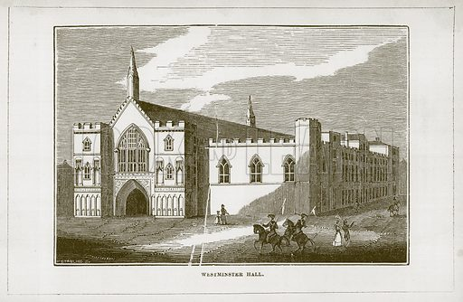 Westminster Hall. Illustration for Wonders of the World (D Omer Smith, c 1860).