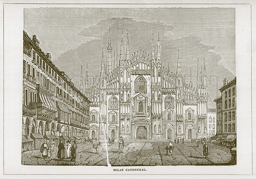 Milan Cathedral. Illustration for Wonders of the World (D Omer Smith, c 1860).