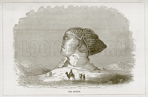 The Sphinx. Illustration for Wonders of the World (D Omer Smith, c 1860).