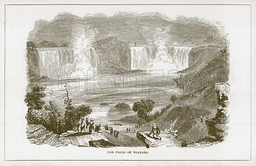 The Falls of Niagara. Illustration for Wonders of the World (D Omer Smith, c 1860).