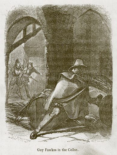 Guy Fawkes in the Cellar. Illustration for Stories selected from the History of England (John Murray, 1854).