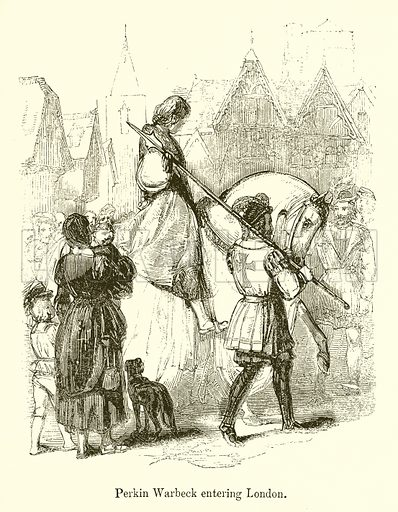 Perkin Warbeck Entering London. Illustration for Stories selected from the History of England (John Murray, 1854).