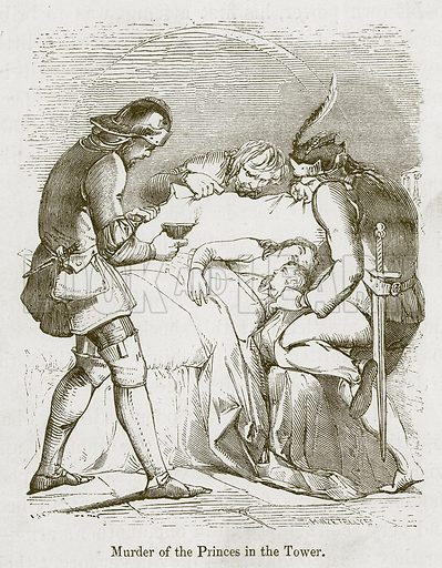 Murder of the Princes in the Tower. Illustration for Stories selected from the History of England (John Murray, 1854).