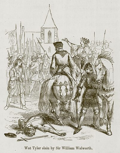 Wat Tyler slain by Sir William Walworth. Illustration for Stories selected from the History of England (John Murray, 1854).