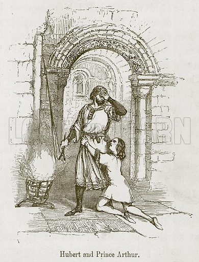 Hubert and Prince Arthur. Illustration for Stories selected from the History of England (John Murray, 1854).