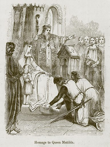 Homage to Queen Matilda. Illustration for Stories selected from the History of England (John Murray, 1854).
