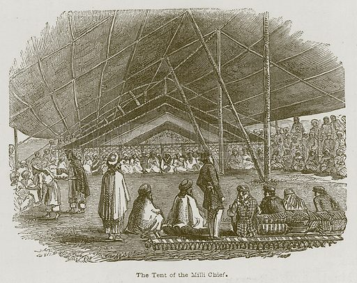 The Tent of the Milli Chief. Illustration for Discoveries in the Ruins of Nineveh and Babylon by Austen Layard (John Murray, 1853).