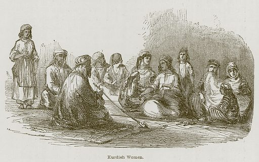 Kurdish Women. Illustration for Discoveries in the Ruins of Nineveh and Babylon by Austen Layard (John Murray, 1853).