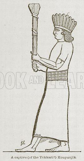 A Captive (of the Tokkari ?) Kouyunjik. Illustration for Discoveries in the Ruins of Nineveh and Babylon by Austen Layard (John Murray, 1853).
