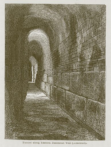 Tunnel along Eastern Basement Wall (Nimroud). Illustration for Discoveries in the Ruins of Nineveh and Babylon by Austen Layard (John Murray, 1853).