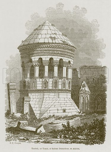 Turbeh, or Tomb, of Sultan Baiandour, at Akhlat. Illustration for Discoveries in the Ruins of Nineveh and Babylon by Austen Layard (John Murray, 1853).