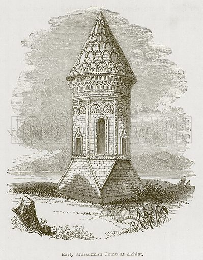 Early Mussulman Tomb at Akhlat. Illustration for Discoveries in the Ruins of Nineveh and Babylon by Austen Layard (John Murray, 1853).