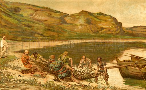 The Second Miraculous Draught of Fishes. Illustration for The Life of Our Saviour Jesus Christ (Sampson Low, c 1897).