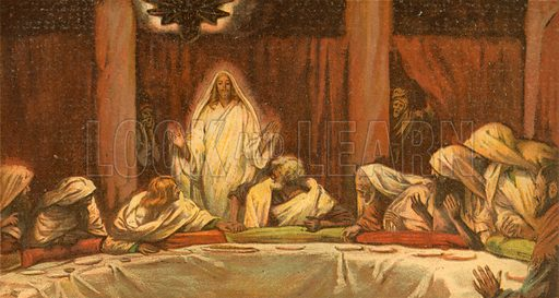 Christ appears to the Eleven. Illustration for The Life of Our Saviour Jesus Christ (Sampson Low, c 1897).