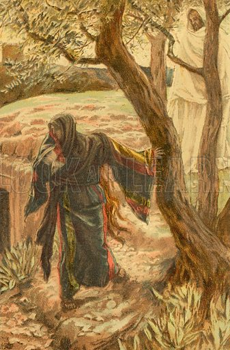 Christ appears to Mary Magdalene. Illustration for The Life of Our Saviour Jesus Christ (Sampson Low, c 1897).
