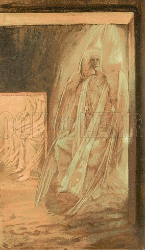The Angel on the Stone of the Sepulchre. Illustration for The Life of Our Saviour Jesus Christ (Sampson Low, c 1897).