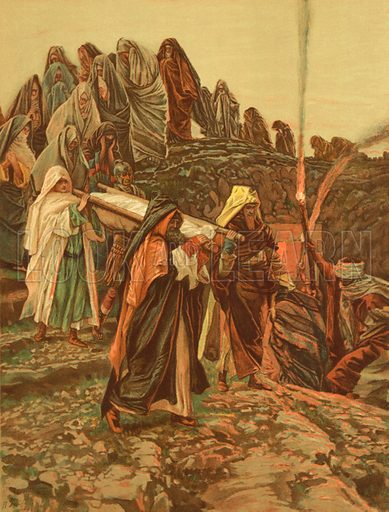Christ carried to the Tomb. Illustration for The Life of Our Saviour Jesus Christ (Sampson Low, c 1897).
